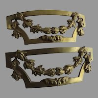Pair of Large 19th Century Ormolu French Furniture Mounts Hardware