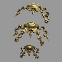 Group of Three 19th Century French Ormolu Furniture Mounts Hardware