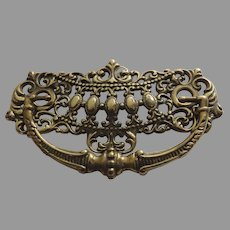 Large Brass Ornate Vintage Handle Pull Bail Furniture