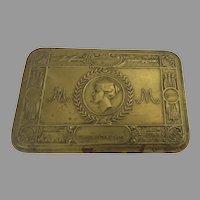 Brass English Christmas 1914 Box Gift Princess Mary