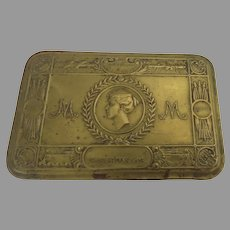 Brass English Christmas 1914 Box Gift Princess Mary