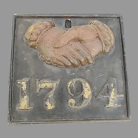 Vintage Cast Firemark Plaque Baltimore Equitable Society Insurance