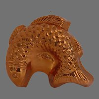 Vintage Large Copper Fish Food Mold Made in Italy
