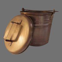 Smith & Hawken Hearthside Ash Bucket and Lid Copper Swing Handle Garden
