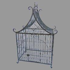 Vintage Metal Pagoda Bird Cage