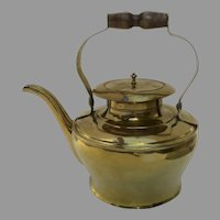19th Century Brass Beautiful Shape Sheet Construction Teapot Kettle