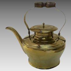 19th Century Brass Beautiful Shape Sheet Construction Teapot Kettle
