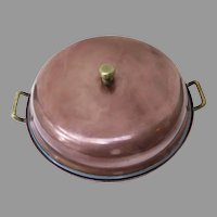 Vintage Copper Two Piece Pan Pot