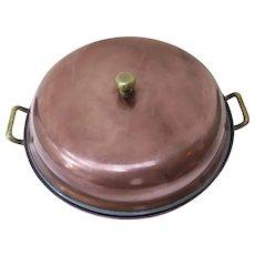 Vintage Copper Two Piece Pan Pot