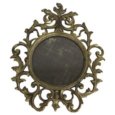 National Brass and Iron Works Brass Frame Mirror c 1900