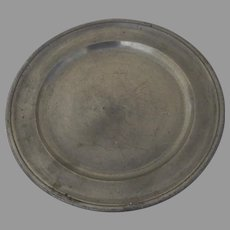 "18th Century S.W. Fein 9"" Pewter Plate"