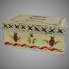 "Vintage Painted Metal Document Box ""Edna"""