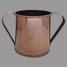 Copper Two Handled Large Cup Measure 19th Century Country Kitchen