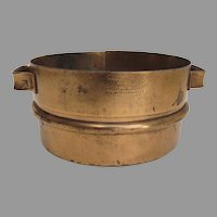 1900's Damrow Brother's Fond du Lac, Wisconsin Dairy Cheese Curd Sieve Copper