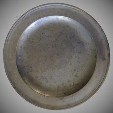 "Edgar Curtis, Bristol, England, c. 1794-1801 Pewter Charger 12"" Diameter"
