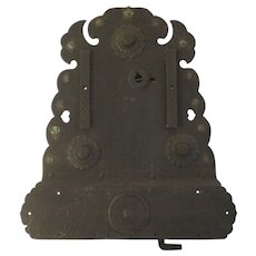 19th Century Large Iron Japanese Money Lock