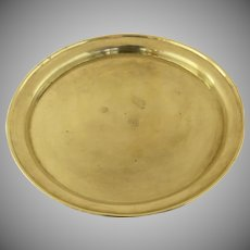 19th Century Handmade Brass Small Round Tray