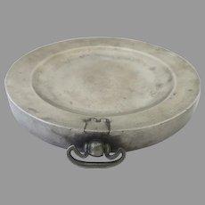 R. Bush & Co. British Pewter Warming Plate George III 18th Century