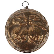 19th Century Copper Mold with Fruit Motif