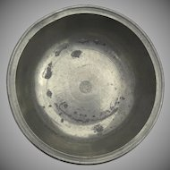 Thomas Boardman Pewter Basin/Bowl 19th Century
