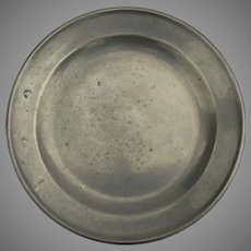 Pewter Plate with Touch Marks 19th Century