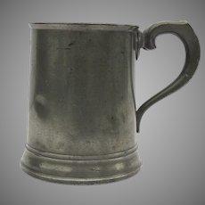 """English Pewter Mug """"1 Pint"""" 19th Century"""