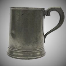"English Pewter Mug ""1 Pint"" 19th Century"