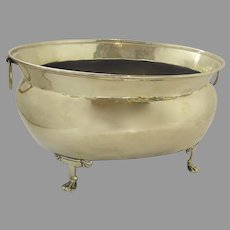 Early 19th Century Brass Paw Footed Wine Cooler Jardiniere