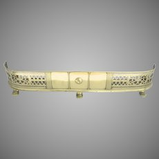 English Fireplace Fender Pierced Brass Paw Feet