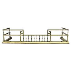 1900's Arts and Crafts Brass Fireplace Fender