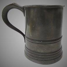 19th Century Pint Pewter Tankard Mug