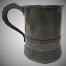 19th Century Pint Pewter Tankard Mug