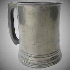 19th Century S. J. Lemon Pewter Tankard Mug Chatham