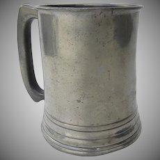 19th Century S. J. Lemon Pewter Tankard Mug Chatham