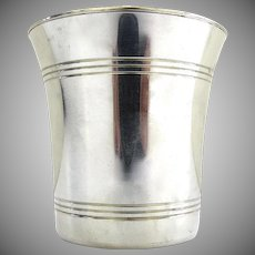 Steiff Colonial Williamsburg Restoration Pewter Cup