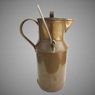 Vintage Solid Copper Milk Cream Can Jug Carafe