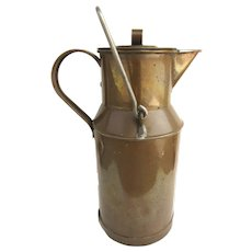Vintage Solid Copper Milk Cream Can Jug Carafe