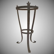 Vintage Iron Planter Plant Pot Stand