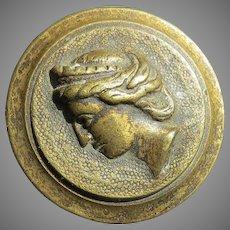 19th Century Gilt Thread Rod Screw Greek Woman's Profile