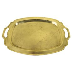Vintage Shaped Brass Tray with Cutout Handles