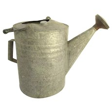 Vintage Older Galvanized Zinc Watering Can
