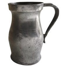 19th Century Pewter Mug Tankard Dated Signed