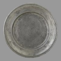 19th Century French Pewter Plate Charger