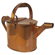 English 1900's Copper Hot Water Can Watering Can