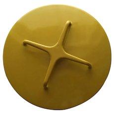 "Vintage Yellow Dansk Enamel Lid Trivet Only 7"""