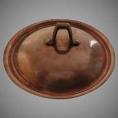 Vintage Paul Revere Copper Lid with Cast Brass Handle