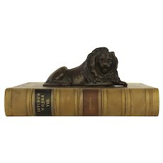 Bronze Spelter Figure Sitting Lion