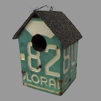 Vintage Birdhouse Handmade from Colorado License Plate