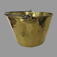 VINTAGE Large American Brass Kettle Co. Cooking Pot Planter Country Kitchen