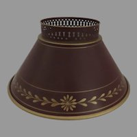 Vintage Tole Bouillotte Student Lamp Shade Clip On